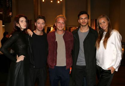 Sebastion Kaiser (middle) with The Cutts Agency Models