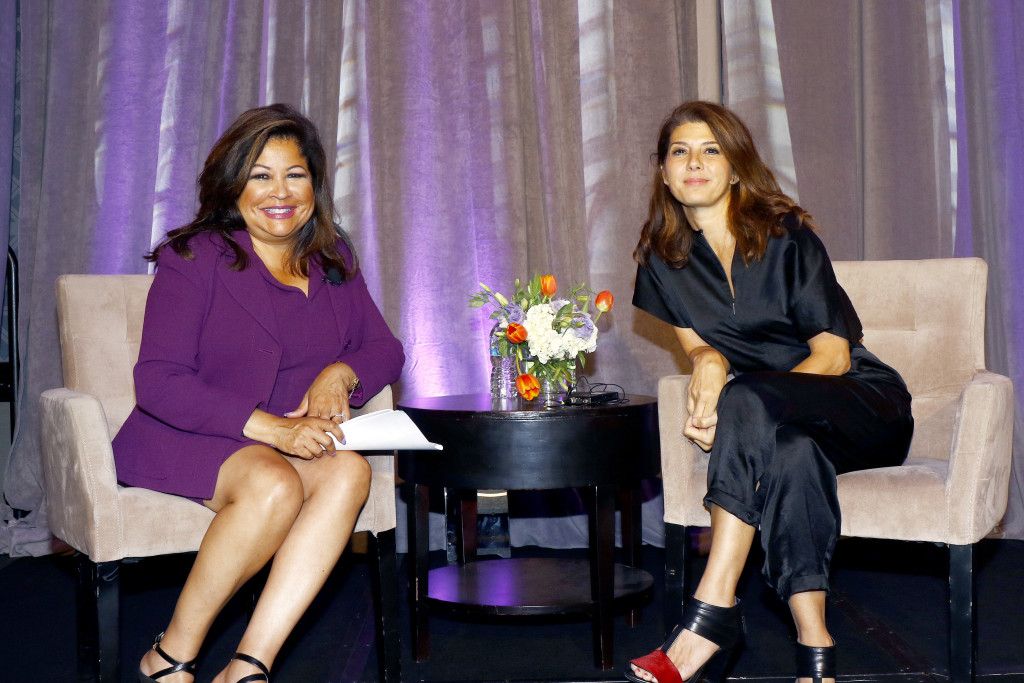 Clarice Tinsley, Fox 4 news anchor and emcee; Marisa Tomei, featured speaker