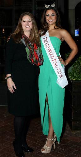 Kyra Barnett, Children's Health, a beneficiary; Ameera Swaidan (Miss Prestonwood Polo Club)