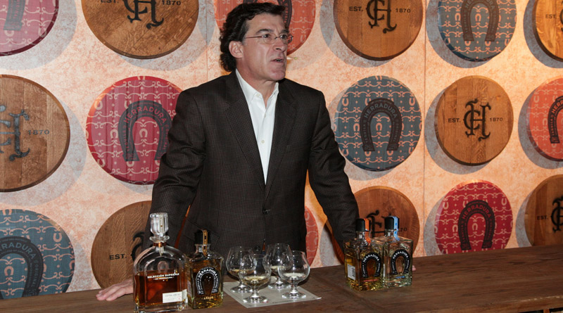 """DALLAS, TEXAS - MAY 09:  Tequila Herradura Global Brand Ambassador, Ruben Aceves conducts a tasting at Casa Herradura Visits Dallas on May 9, 2016 in Dallas, Texas.  (Photo by Peter Larsen/Getty Images for Tequila Herradu)"""