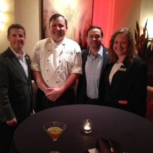 Fairmont Dallas management team with New Chef Brandon Drew.