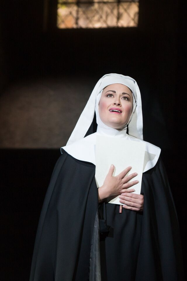 Ashley Brown as Mother Abbe in The Sound of Music.