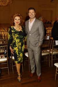 Linda Ivy, Heritage Auctions; Ron Corning, WFAA Channel 8 and emcee