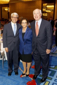 Rabbi David Stern, Nancy A. Nasher, Texas Trailblazer Award honoree; David J. Haemisegger