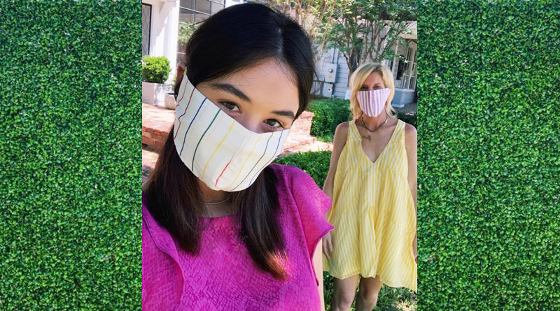 """Sophie McGuire Influencer and Blogger """"Much Love Sophie"""" Teams Up with Nicole Musselman, Owner of The Koch House, Creating Face Masks to benefit North Texas Food Bank"""