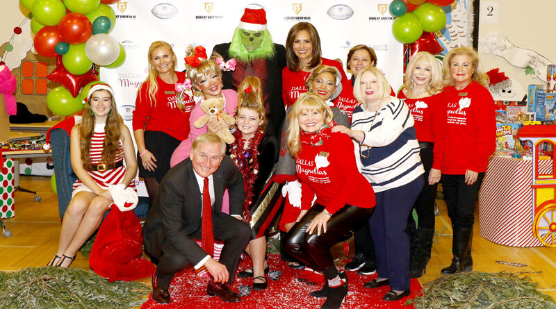 Dallas Magnolias Presented Over 800 Bye-Bye Bags and Stockings filled with Christmas Goodies and Toys benefiting the Children of Vogel Alcove
